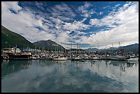 Harbor and reflections. Seward, Alaska, USA