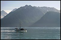 Fishing boat in Resurection Bay. Seward, Alaska, USA (color)