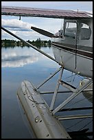 Seaplane moored on Lake Hood. Anchorage, Alaska, USA (color)