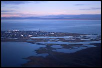 Aerial view of Kotzebue. Kotzebue, North Western Alaska, USA ( color)