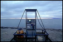 Gas pump on the beach, looking towards the Bering sea. Kotzebue, North Western Alaska, USA ( color)