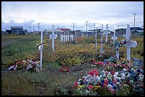 Cemetery. Kotzebue, North Western Alaska, USA (color)