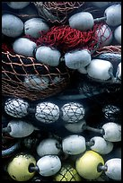 Buoys and fishing nets. Seward, Alaska, USA (color)