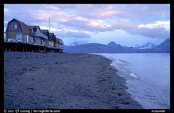 Houses on the Spit. Homer, Alaska, USA