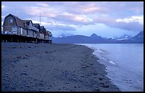 Houses on the Spit. Homer, Alaska, USA ( color)
