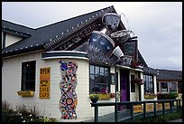 Cafe. Homer, Alaska, USA (color)