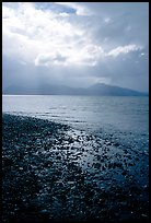 Katchemak Bay from the Spit, Kenai Mountains in the backgound. Homer, Alaska, USA