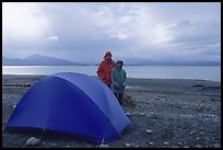 Camping on the Spit. Homer, Alaska, USA