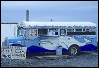 Fast food bus, local style. Homer, Alaska, USA ( color)