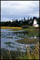 Lighthouse at low tide. Homer, Alaska, USA (color)