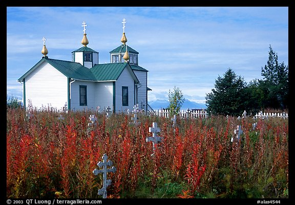 Old orthodox Russian church. Ninilchik, Alaska, USA