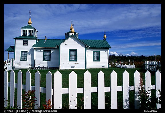 Small Russian church. Ninilchik, Alaska, USA (color)