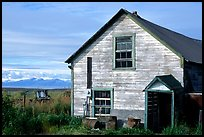 Old wooden house in  village. Ninilchik, Alaska, USA