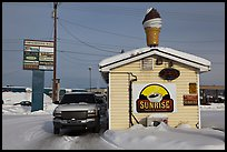 Drive through coffee shop. Fairbanks, Alaska, USA ( color)