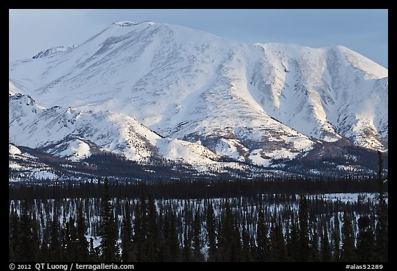 Mountains in winter. Alaska, USA (color)