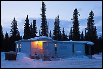 Post office at dusk, Cantwell. Alaska, USA (color)