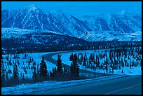 George Parks Highway at dusk. Alaska, USA (color)