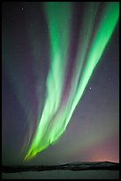 Aurora Borealis, Cleary Summit. Alaska, USA (color)
