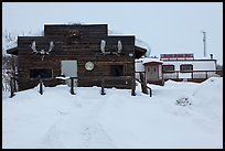 Log cabin and Slate Creek Motel, Coldfoot. Alaska, USA ( color)