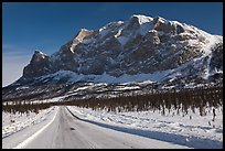 Dalton Highway and Mount Sukakpak. Alaska, USA (color)