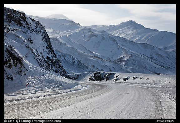 Atigun Pass in winter. Alaska, USA (color)
