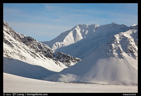 Arctic Mountains in winter. Alaska, USA (color)