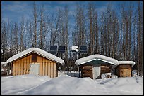 Cabins and solar panels. Wiseman, Alaska, USA ( color)