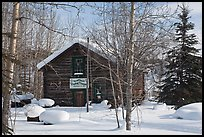 Storebuilding in winter. Wiseman, Alaska, USA ( color)