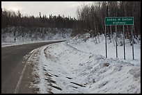 Sign marking begining of James W Dalton Highway. Alaska, USA (color)
