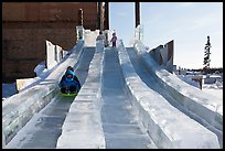 Kids park slides, Ice Alaska. Fairbanks, Alaska, USA ( color)