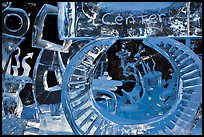 Ice sculpture garden, Ice Alaska competition. Fairbanks, Alaska, USA ( color)