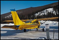 Plane on frozen runway in winter. Chena Hot Springs, Alaska, USA ( color)