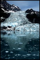 Cascade glacier dropping into Harriman  Fjord. Prince William Sound, Alaska, USA ( color)