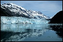 Barry glacier and mountains reflected in the Fjord. Prince William Sound, Alaska, USA