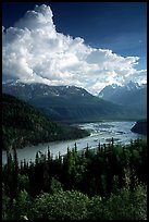 Matanuska River in summer. Alaska, USA ( color)