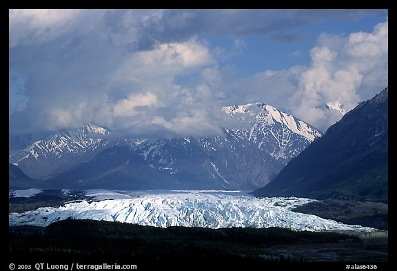 Matanuska Glacier. Glenn Highway, Central Alaska, USA