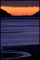 Tidal flats at sunset, Turnagain Arm. Alaska, USA (color)