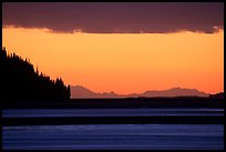 Turnagain Arm at sunset. Alaska, USA ( color)