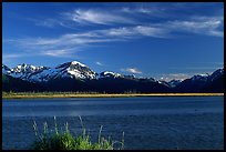 Mountains and Turnagain Arm near Portage. Alaska, USA