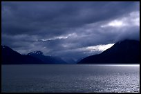 Storm clouds hang over the Turnagain Arm. Alaska, USA