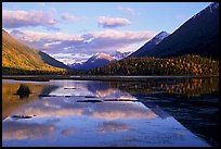 Tern Lake in late afternoon. Seward Highway, Kenai Peninsula, Alaska, USA