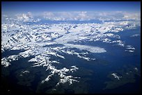 Aerial view of the Columbia Glacier. Prince William Sound, Alaska, USA (color)