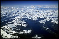 Aerial view of Glaciers in Prince William Sound. Prince William Sound, Alaska, USA