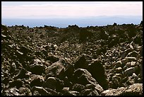Lava fields, Glass Mountain. California, USA ( color)