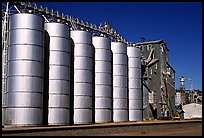 Grain silos. California, USA (color)
