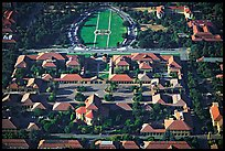 Aerial view of campus. Stanford University, California, USA (color)