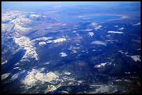 Aerial view of the Sierra Nevada and Mono Lake. California, USA