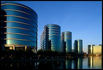 Oracle Headquarters late afternoon. Redwood City,  California, USA (color)