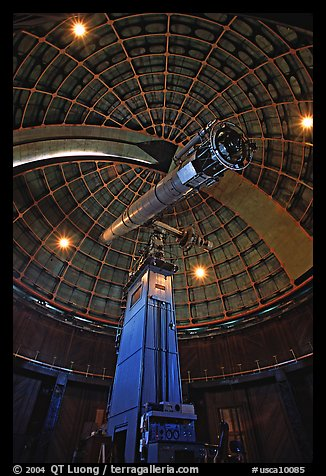 Telescope and Dome, Lick Observatory. San Jose, California, USA (color)