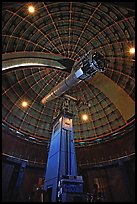 Telescope and Dome, Lick Observatory. San Jose, California, USA ( color)